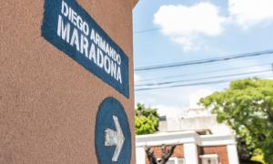 Una calle de Lanús ya lleva el nombre de Diego Maradona