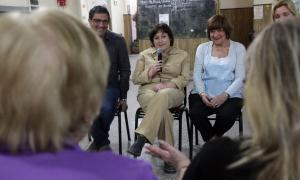 Graciela Ocaña visitó el partido de Merlo.