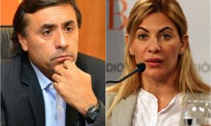 Eduardo Aparicio y Nora de Lucía cuestionados por los recortes.