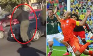 Comparan al gendarme con el holandés Robben por simular una falta.