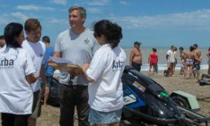 Los controles fueron realizados en la playa La Frontera de Pinamar. Foto: ARBA.