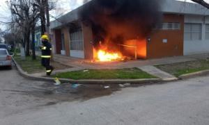 Así quedaron las oficinas de Edesur en San Vicente.