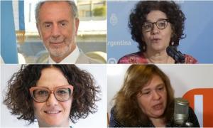 Jorge Neme, Cecilia Merchán, Cecilia Todesca y Valeria Zapesochny