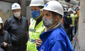 Galmarini recorrió obras del Sistema Agua Sur en Bernal que beneficiarán a 2,5 millones de vecinos