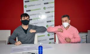 Francisco Echarren (Castelli) y Carlos Rocha (General Guido)