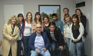 Gorosito recibió a integrantes del grupo. Foto: CNSaladillo