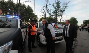 Granados entregó patrulleros en 3 distritos. Foto: ZonaNorteDiario