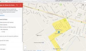Implementan mapa interactivo para conocer las obras que se llevan a cabo en General Rodríguez