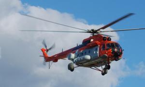 Helicóptero tipo MI 17 que debió aterrizar de emergencia. Imagen ilustrativa.