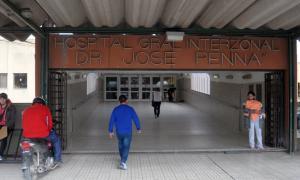 El hospital Penna, de Bahía Blanca. Foto: La Nueva.