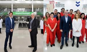 Andreotti y Zamora inauguraron hospitales municipales.