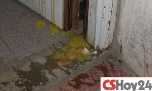 Arrojan huevazos a las casas. Foto: CSHoy24