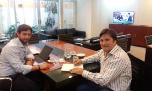El intendente de General Rodríguez, Darío Kubar, se reunió con Salvai con variada agenda