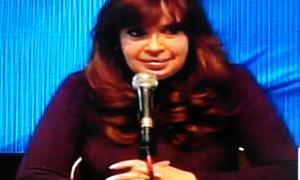 La presidenta Cristina Fernández habló por cadena Nacional desde Río Gallegos.