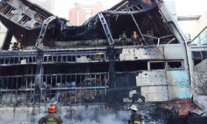 Así quedó el sector de la planta incendiado. Imagen de Bernal TV