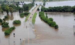 La cuenca del Río Salado generó serias inundaciones.