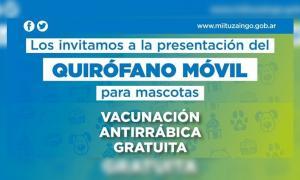Nuevo quirófano móvil para las mascotas en Ituzaingó