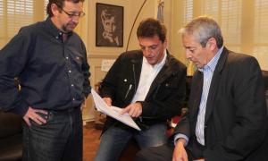 Sergio Massa junto al diputado radical Ricardo Jano, quien se sumó al Frente Renovador.