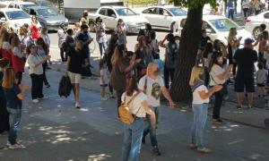 Protestaron frente al municipio