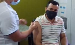 Jose Nobre Ferreira se vacunó