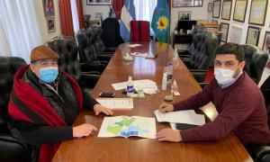 Ishii junto al Subsecretario de Intervención Federal del Ministerio de Seguridad de la Nación, Luis Morales