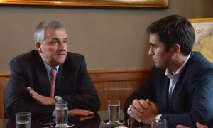 Morales con Mosca. Fotos: Diputados PBA