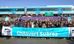 Katopodis inauguró el túnel de Chilavert.