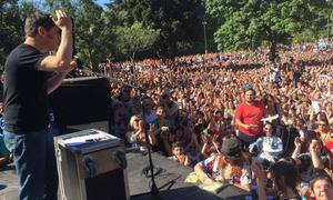 kicillo disertó ante 10 mil personas en Parque Centenario.