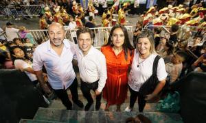 Mario Secco, Axel Kicillof y Soledad Quereilhac