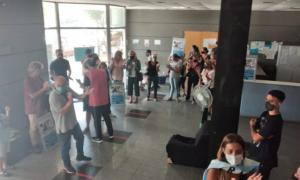 La protesta fue en el Consejo Escolar