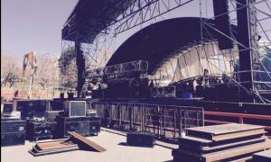 Comenzaron el armado del escenario. Foto: @josédpalazzo