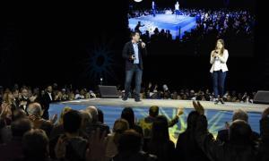 El acto fue encabezado por el intendente Leonardo Nardini. Fuente:Norte en Línea