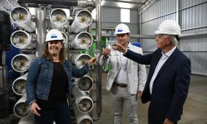 Agua potable en Lincoln: Inauguran planta de ósmosis inversa con inversión de $83 millones