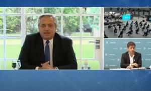Día de la Construcción en Olavarría: El Presidente cuestionó la especulación con precios de los insumos en acto en Loma Negra