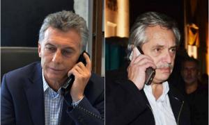 Macri y Alberto Fernández, al teléfono