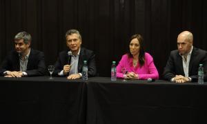 Macri estuvo acompañado por Vidal, Peña y Rodríguez Larreta.