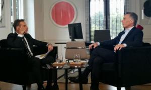 Macri habló en el canal América.