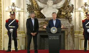 Macri brindó una conferencia desde Casa Rosada.