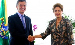 Macri junto a Rousseff en Brasilia. Foto: Minutouno