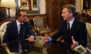 Macri recibió a Scioli en Casa Rosada.