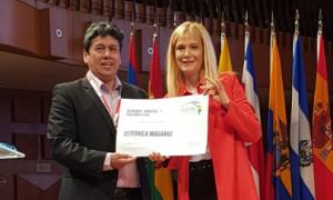 Magario fue distinguida en la Cumbre Internacional de Alcaldes en Puerto Rico