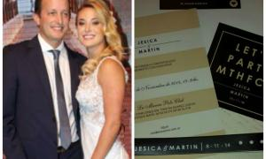 Insaurralde y Cirio ya repartieron las tarjetas de boda.
