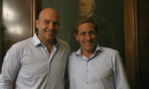 Molina y Garro se reunieron en La Plata.