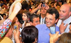 Massa agradeció su triunfo electoral en Bahía Blanca.