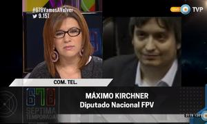 Máximo Kirchner habló en el último programa de 678.