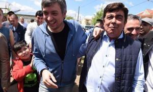 Máximo Kirchner junto a Fernando Espinoza. Foto: NA