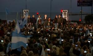 Marcha del #SíSePuede en Mar del Plata con Macri, Vidal y Montenegro