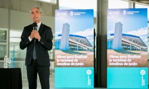 El Ministro de Transporte, Mario Meoni, en Junín