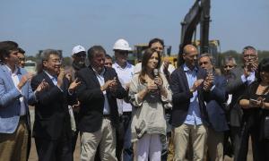 Comenzó la obra de la autopista sobre la Ruta Nacional 5 que unirá Mercedes y Bragado