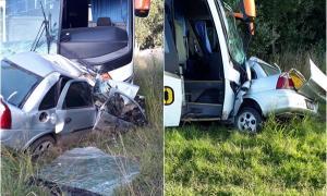 Choque frontal entre micro y un auto en ruta 11 cerca de La Plata: Un muerto